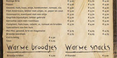 Bakery menukaart 3